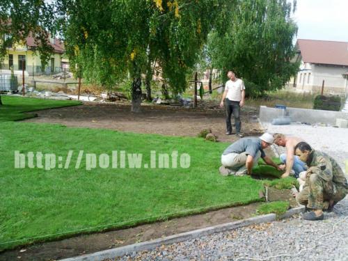 Укладка газона, автополив